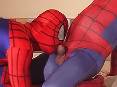 Tattoed, Tatto blowjob, Spiderman