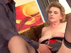 Granny, Young, Big cock, Mature