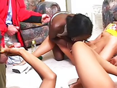 Tryout, Toying ebony, Lesbian masturbate dildo, Ebony toys, Ebony toying, Ebony toy