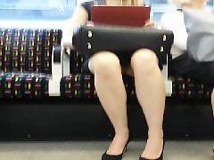 Upskirt on train, Upskirt train, Training, Trained, Train upskirt, Stocking upskirt