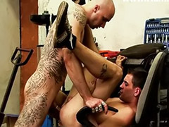 Serviced, Total anal, Serviced gay, Service, Oral service, Inked blowjob