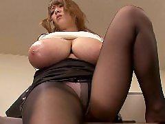 Asian, Big tits, Office