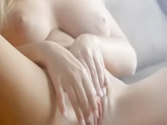 Rubbing clit, Rub clits, Super models solo, Super clits, Solo clit, Model blond
