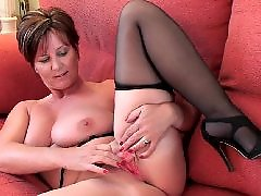 Mature stockings, Mature compilation, L compilation, Herself, Fucking dildo, Grandmas