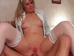 Stockings french, Stocking sluts, Stocking blonde ass, Slut stockings, Masturbation french, Hammers