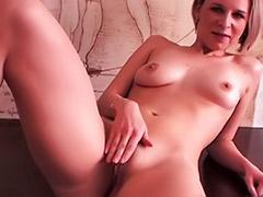 My ex, Shaving my pussy, Heels pussy solo, Blonde ex