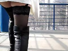 Upskirt, Flashing, Boots