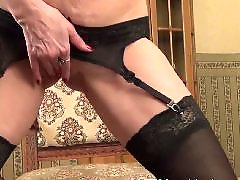 Mature masturbation, Mature strip, Mature stockings, Mature masturbating