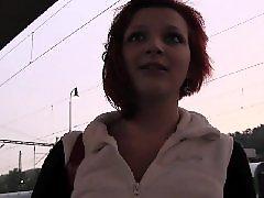 Redhead amateur, Fuck behind, Amateur pov, Training, Trained, Train station