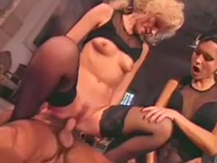 Vintage classic, Vintage black, Two bitch, Serving, Black vintage, Classic blowjob