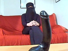 Arab, Arabic, Huge dildo