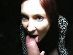 Redhead blowjob outdoor, My cock cums, On my cock, Find, Cum on public, Cum on my cock