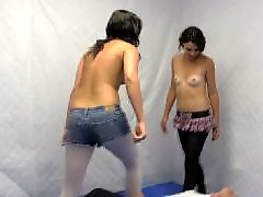 Two chicks, Stocking hot, Hot two, Hot stocking, Ballbusting stockings, Ballbuster