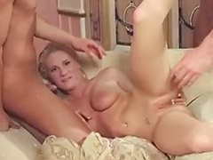 Many girl, Many cums, Many cum, Hot girl cum, Hot blonde gangbang, Doubled dick