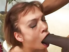 Black cock gagging @ Vulgar Moms