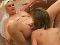 Mature blonde lesbians, Two mature lesbians, Together masturbation, Together masturbating, Together masturbate, Playing togethe