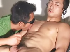 아시아 남자 자위