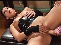 Up her ass, Strap ass, Lesbians black tits, Lesbians boots, Lesbian licking boots, Lesbian latex