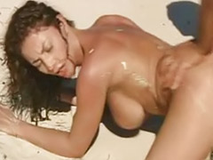 Tits bouncing, Tits bounce, Riding outdoors, Outdoor beach, Oral beach sex, Big tits bouncing