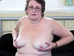 Granny, Mature stockings, Wet