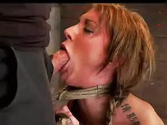 Tied gagged, Huge cock gagging, Gagging on cock, Gagged tied, Chair tied, Huge cock
