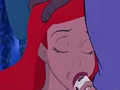 Mermaid, Cartoon blowjob