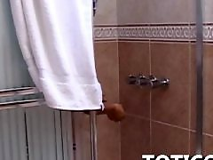 Amateur, Shower, Masturbation, Ebony