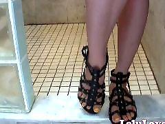 Showers, Showering, Sandals, Lelu love, Foot foot love, Gladiator