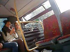 Bus, Public, Teen, Upskirt