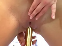 Pierced dildo, She enjoys anal, Solo black anal, Solo anal lingerie, Lingerie dildo masturbation, Lingerie dildo
