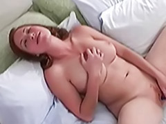 Nice girl solo, Nice tits solo, Ginger solo, Ginger masturbating