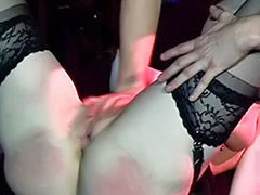 Triple vaginal, Triple blowjob, Threesome latex, Stockings spank, Stocking spanking, Stocking spank