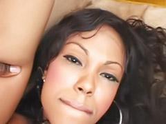 Ebony small tits, Ebony small