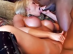 Two bbc, Two busty, Tits stretching, Threesome busty anal, Threesome busty, Stretches