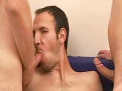 Threesome bareback gay, Threesome hardcore sex