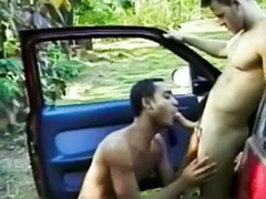 The butt, Licking gay, In the car gay, Gay in car, Gay car, Butt licking