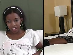Ebony teen, Teen interracial, Schoolgirl, Interracial