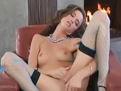 Malena morgan, Morgan, Lingerie solo brunette, Fireplace