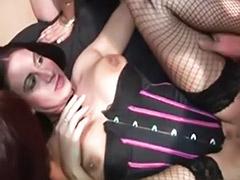 Two sluts, Two amateur sluts, Gangbang lingerie, Lingerie gangbang