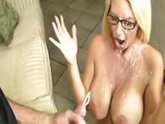 Full cum, Facials glasses, Facial glasses, Glasses facial