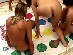 Twister, Play twister, Naked twister, Naked, Five girls, College girl