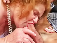 Toying granny, Toy granny, Redhead granny, Group grannies, Group granny, Granny toys