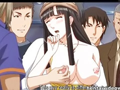 Train masturbation, Tits training, Masturbation training, In train, In a train, Hentai black
