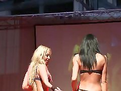 Two babes, Two amateur, Wildly, Strippers, Stripper, Horny public