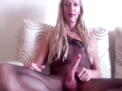 Twice cum, Shemale fishnet, Fishnets, Cums twice, Cumming twice, Cum in shemale