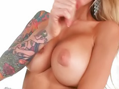 Tattoo swallow, Piercing tits swallow, Pierced milf, Pierced dick, Pov blonde milf suck, Super suck