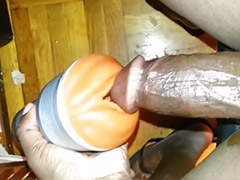 Toying ebony solo, Solo gay handjob, Handjob flashlight, Flashlight, Ebony solo handjob, Ebony cock solo