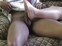 Sweet interracial, Sweet cock, Milf footjobs, Milf footjob, Interracial ginger, Her first cock