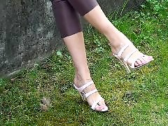 Upsرقص, Ups, Up close, Pink heels, Highly, High heels fetish